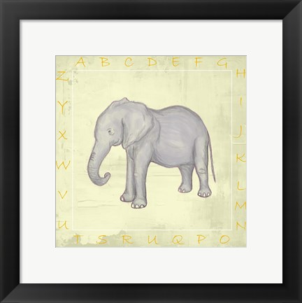 Framed Elephant Alphabet Print