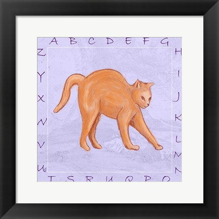 Framed Cat Alphabet Print