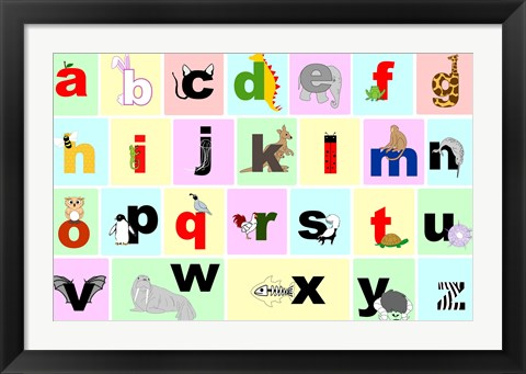 Framed Animal Alphabet Print