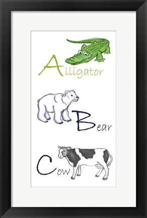 Framed ABC Animals Print