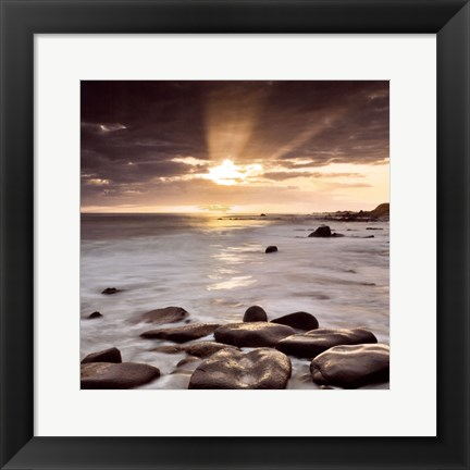 Framed Nordic Sunset Print