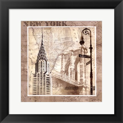 Framed New York Serenade Print