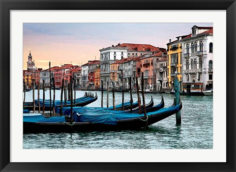 Framed Dawn in Venice Print