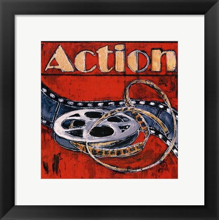 Framed Action - mini Print