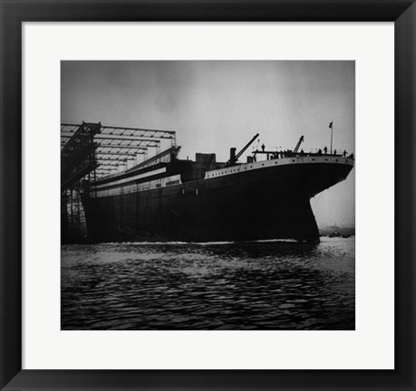 Framed Titanic Constructed at the Harland and Wolff Shipyard in Belfast Print
