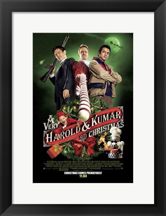 Framed Very Harold & Kumar Christmas Print