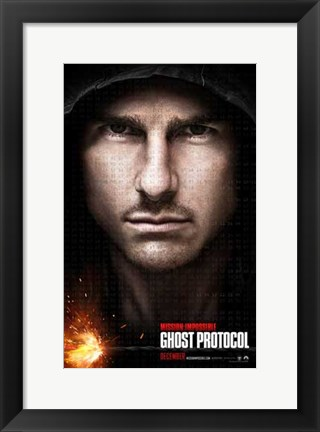 Framed Mission: Impossible - Ghost Protocol Tom Cruise Print
