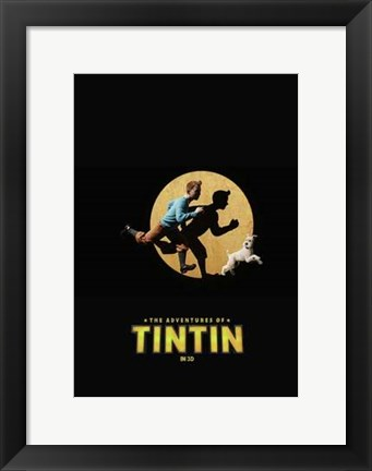 Framed Adventures of Tintin: The Secret of the Unicorn Movie Print