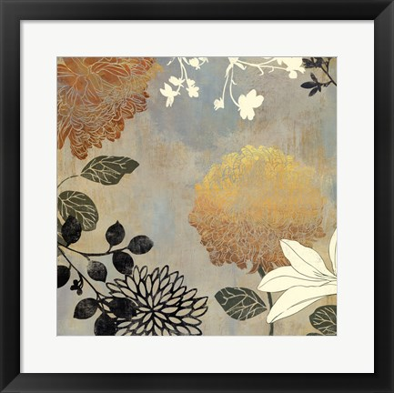 Framed Grace Flowers II Print