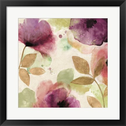 Framed Watercolour Florals II Print