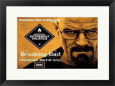 Framed Breaking Bad - horizontal Print