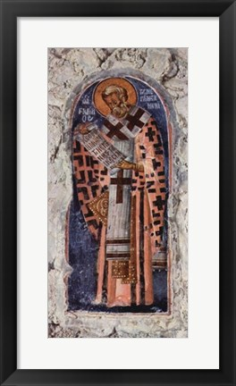 Framed Master of the church in Mistra Aphentico Print