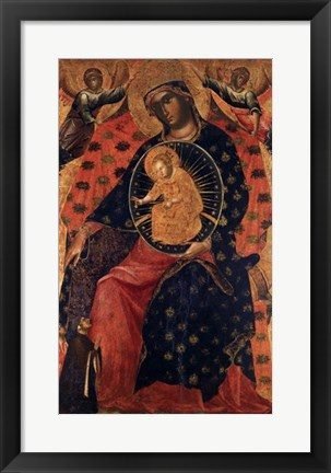 Framed Madonna and Child with two Votaries Print