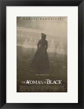 Framed Woman in Black (movie poster) Print