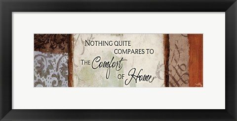 Framed Comfort Of Home Print