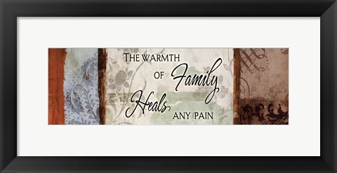 Framed Warmth Of A Family Print