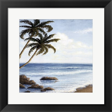 Framed atlantic I Print