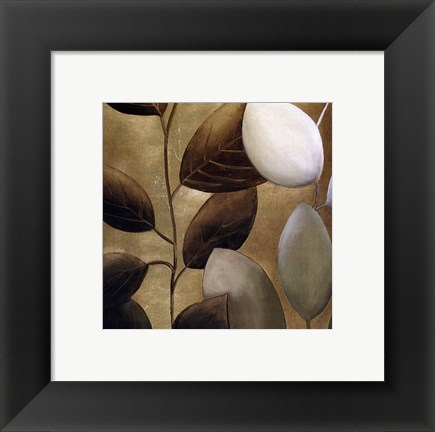 Framed Gold Eco-Chic II Print