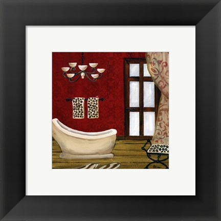 Framed Pal Beach Bath III Print