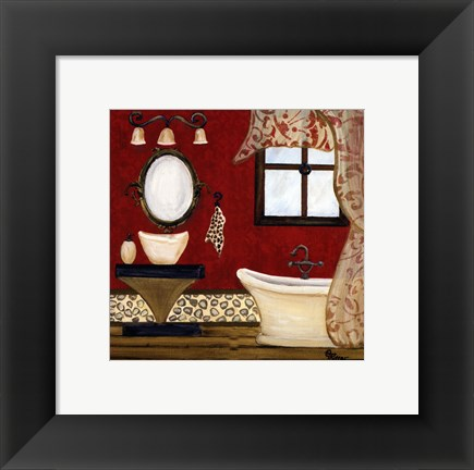 Framed Palm Beach Bath IV Print