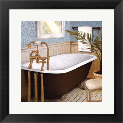 Framed Afternoon Bath I Print