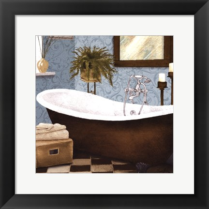 Framed Afternoon Bath II Print
