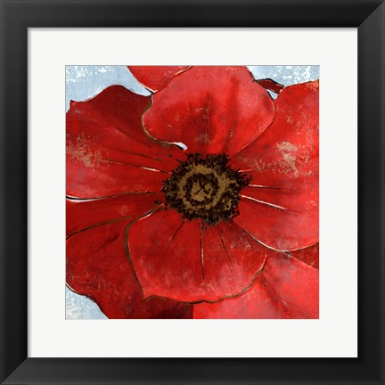 Framed Exotic Poppy II Print