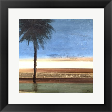Framed Coastal Palms III Print