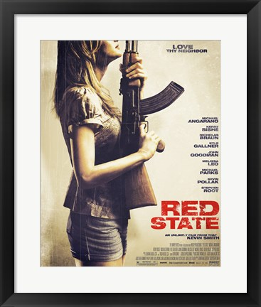 Framed Red State Print