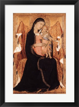 Framed Virgin and Child Print