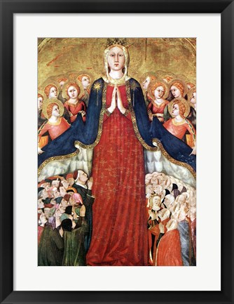 Framed Madonna with angels Print