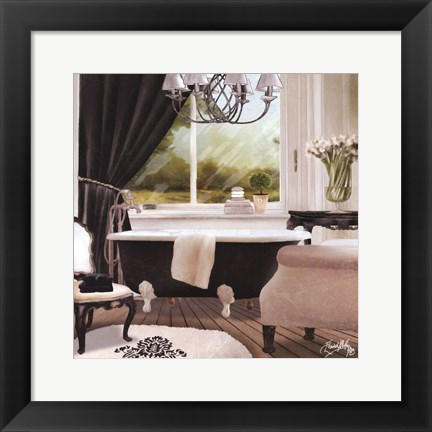Framed Chandelier Bath II Print