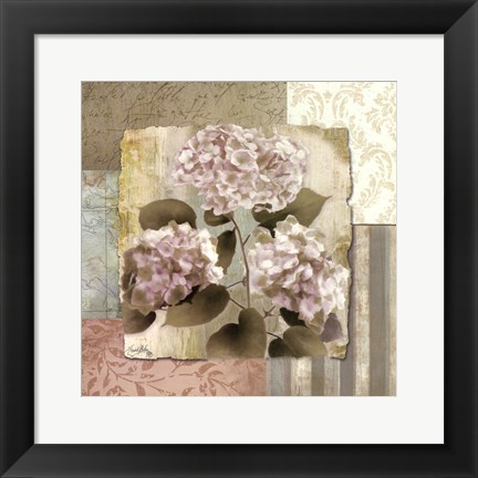 Framed Botanical Hydrangeas Print