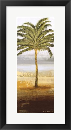 Framed Beach Palm II Print