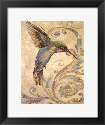 Framed Hummingbird I Print