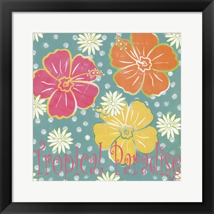 Framed Tropical Paradise Print