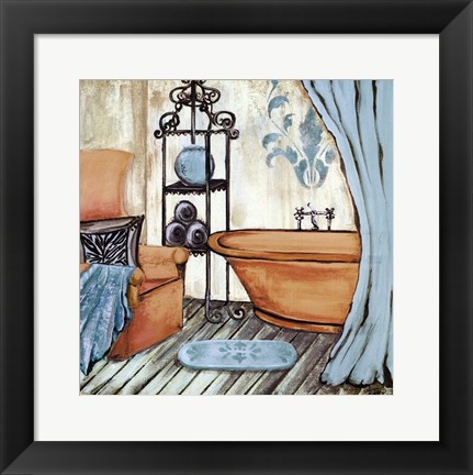 Framed Chateau Bath I Print