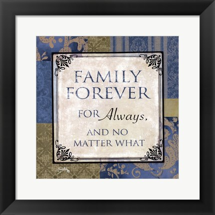 Framed Family forever Print