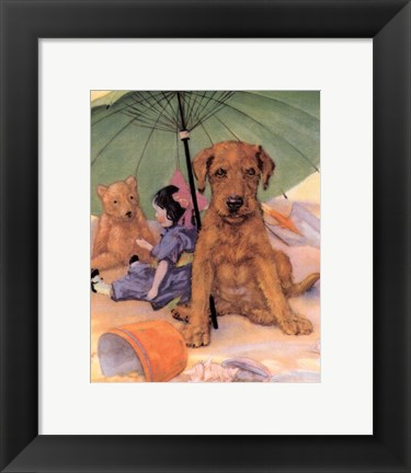 Framed Terrier Trouble I Print