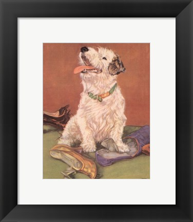 Framed Terrier Trouble III Print