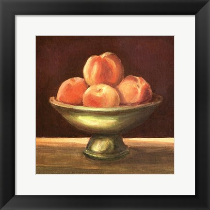 Framed Rustic Fruit Bowl I Print