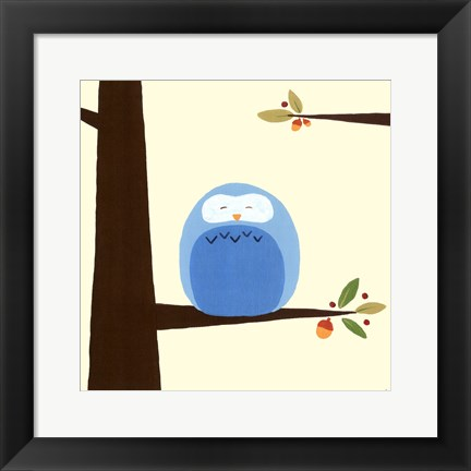 Framed Orchard Owls III Print
