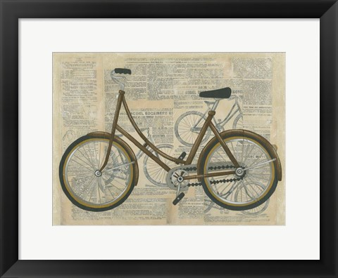 Framed Tour by Bicycle II Print