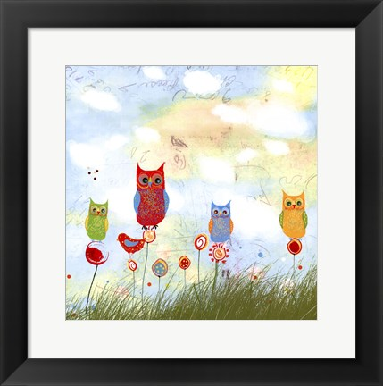 Framed Owl Land Print