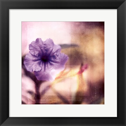 Framed Purple Tranquility I Print