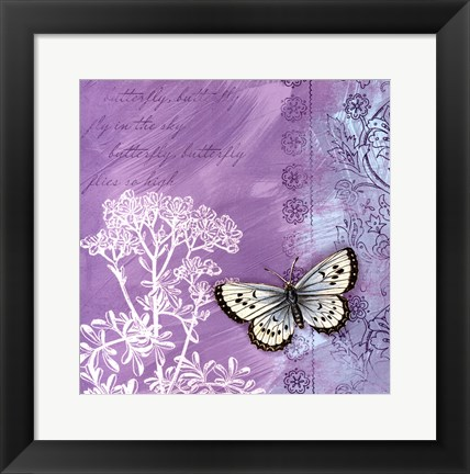 Framed Butterfly Notes VIII Print