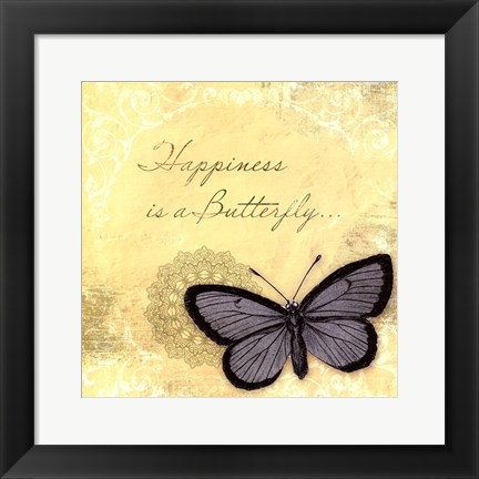 Framed Butterfly Notes XI Print