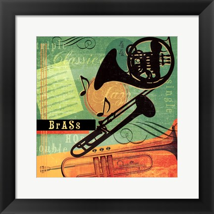Framed Music Notes II Print