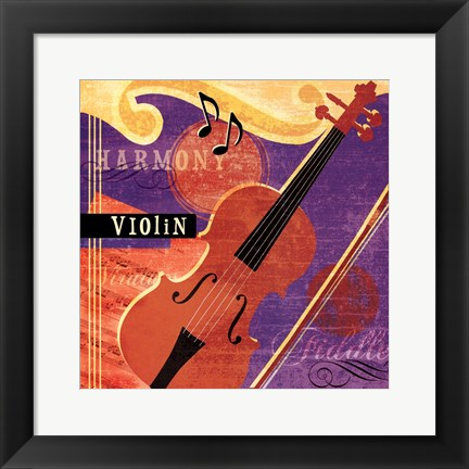 Framed Music Notes VI Print
