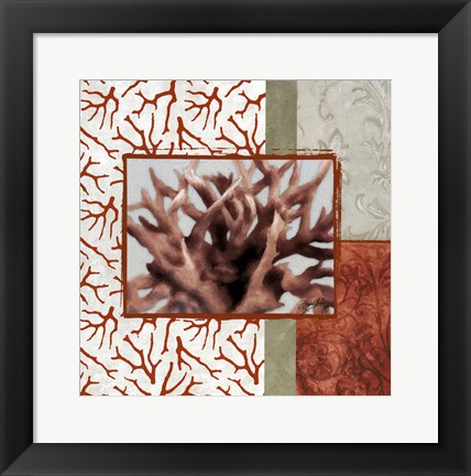 Framed Coral Branch II Print